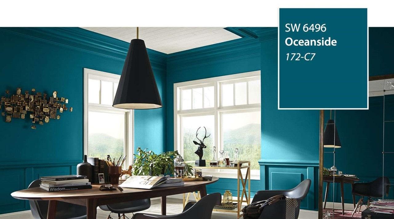 Sherwin-Williams donne la couleur «Oceanside»
